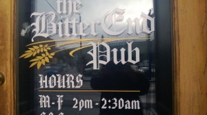 The Bitter End Pub on Burnside in Portland Oregon.